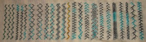 18.112.feathered chain stitch sampler