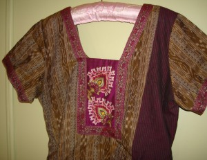 gold ikat violet tunic