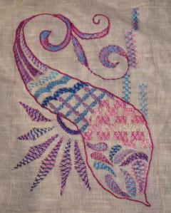 26.120.double herringbone stitch sampler
