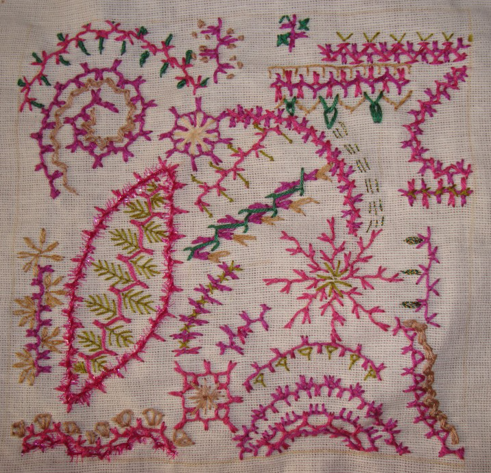 TAST 2014. 32.126. Alternating up and down buttonhole stitch (4/4)