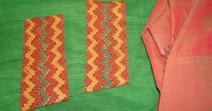 green zigzag border tunic sleeves and salwar