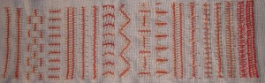 44.138.Barb stitch sampler