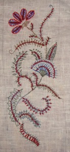 45.139.beaded barb stitch sampler
