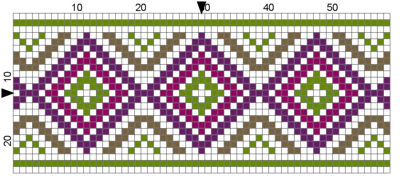 Cross Stitch Border and Single Motif Patterns