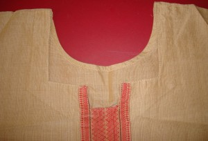 sample tunic-neckline