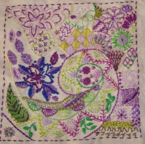 embroidery sampler book page1