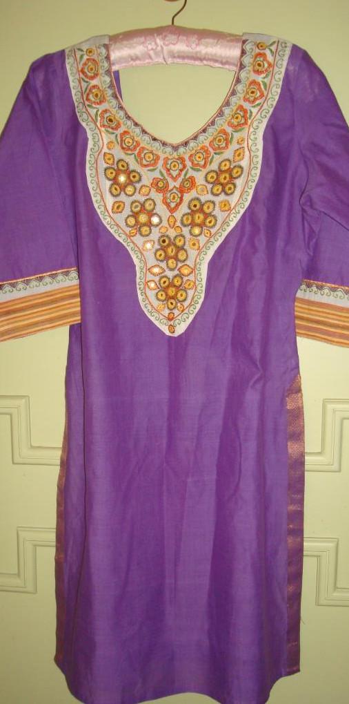 lavender mirrorwork tunic