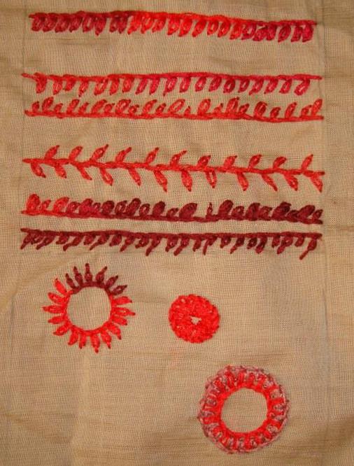SSS.60.Petal stitch sampler