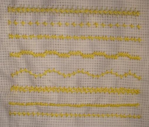 SSS.62.pearl stitch sampler